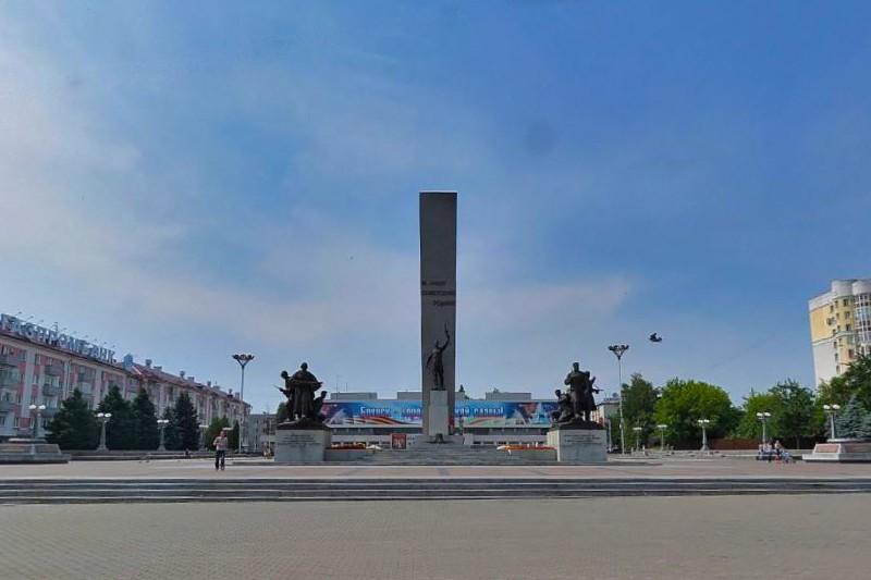 Площадь партизан вечный огонь