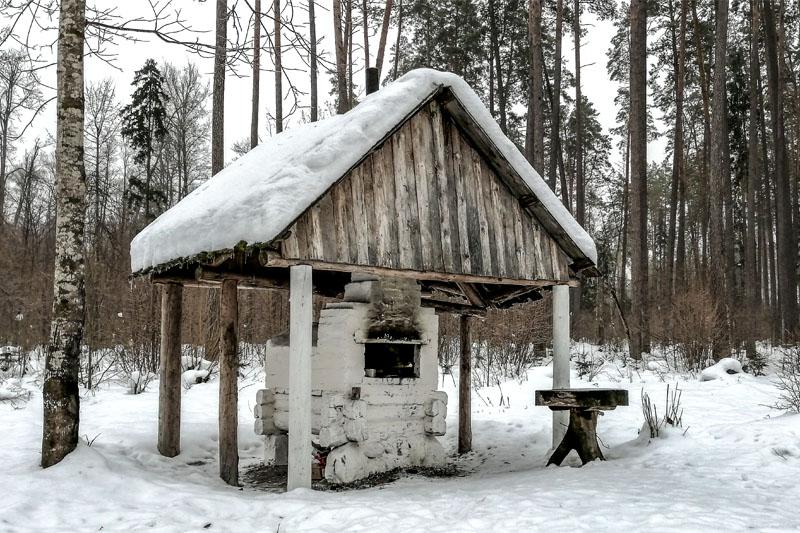 Партизанская печка на стоянке Виноградова