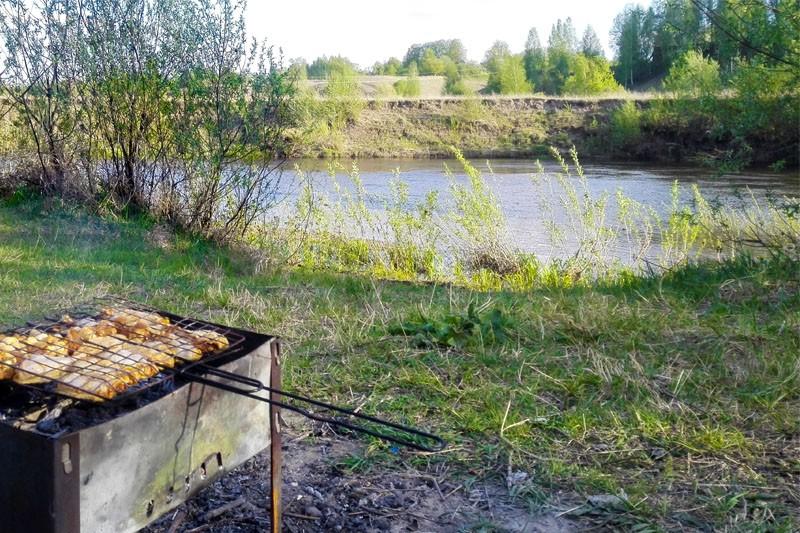 Веломаршрут плюс два классных места для пикника у реки