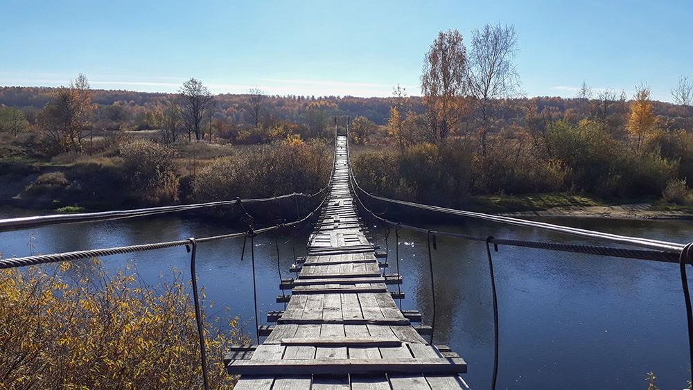 подвесной мост в Сельцо мкр-н Коммунар