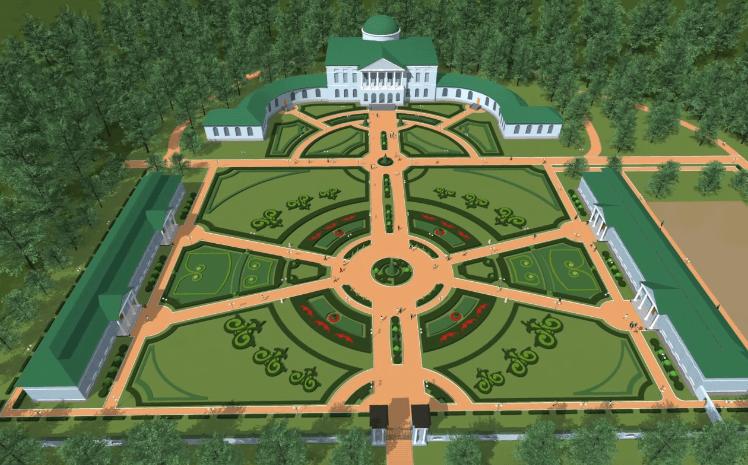 Макет усадьбы Завадовского в Ляличах