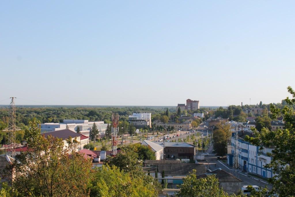 Вид на город Брянск с Покровской горы